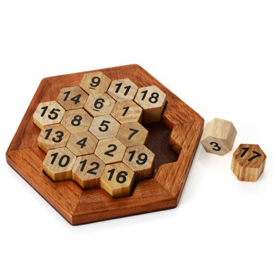 Hexagon Wooden Interlocking Jigsaw Puzzle Unlock ToyLogic &amp; Puzzle Toys<br>Hexagon Wooden Interlocking Jigsaw Puzzle Unlock Toy<br><br>Gender: Unisex<br>Materials: Wood<br>Package Contents: 1 x Puzzle Toy<br>Package size: 15.00 x 15.00 x 3.50 cm / 5.91 x 5.91 x 1.38 inches<br>Package weight: 0.140 kg<br>Product size: 14.00 x 14.00 x 2.00 cm / 5.51 x 5.51 x 0.79 inches<br>Product weight: 0.118 kg<br>Stem From: China<br>Style: Geometric Shape<br>Theme: Other<br>Type: Jigsaw Puzzle