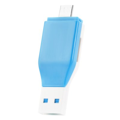 SpedCrd Micro USB to USB 2.0 Card Reader with TF Slot
