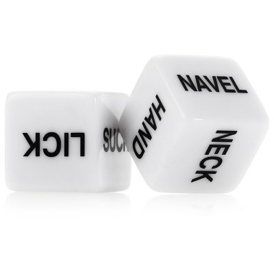 2 pieces New White Adult Funny Love Sexy Dice Game Romance Toy