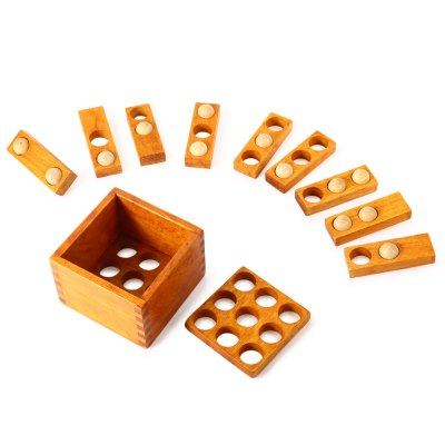 3D Classic Unlock Puzzle Toy Wooden Jigsaw