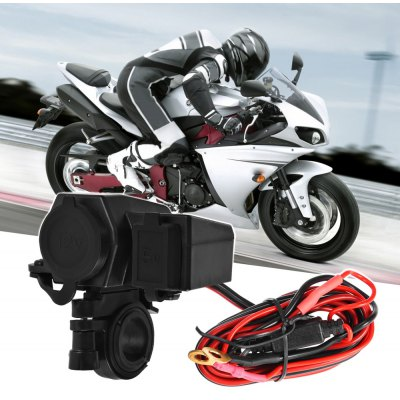 XSC Cigar Lighter USB Charger for Motorcycle