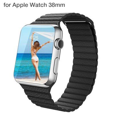 Leather Surface Watch Strap Wristband for Apple Watch 38mm