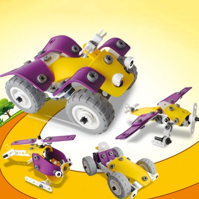 Transformable Vehicle Model Kit DIY Assembly Set