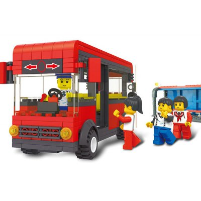 Cartoon Bus Style ABS Cartoon Building Brick