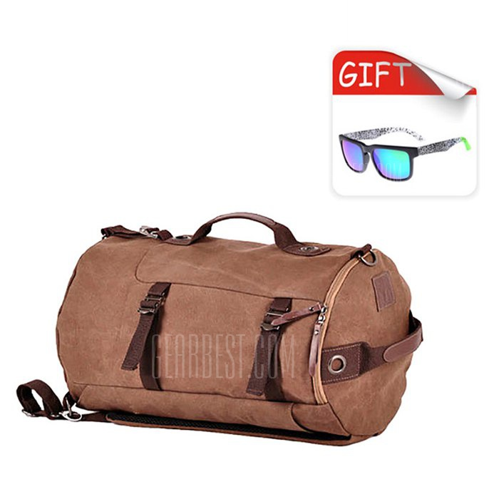 30056 Canvas 38L Travel Backpack / Sling Bag with Sunglasses