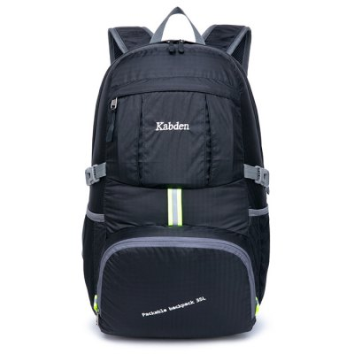 Kabden 35L Travel BackpackBackpacks<br>Kabden 35L Travel Backpack<br><br>Brand: Kabden<br>Type: Backpack<br>For: Camping,Casual,Sports,Traveling<br>Material: Nylon<br>Features: Foldable,Laptop Bag,Ultra Light,Water Resistance<br>Capacity: 31 - 40L<br>Bag Capacity: 35L<br>Strap Length: 45 - 90cm<br>Product weight: 0.310 kg<br>Package weight: 0.380 kg<br>Product size (L x W x H): 31.00 x 21.00 x 51.00 cm / 12.2 x 8.27 x 20.08 inches<br>Package size (L x W x H): 20.00 x 18.00 x 4.00 cm / 7.87 x 7.09 x 1.57 inches<br>Package Contents: 1 x Kabden Travel Backpack