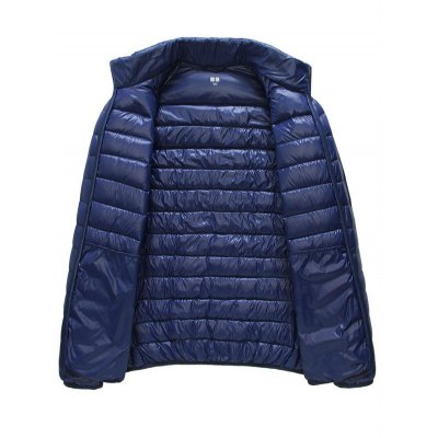Glazed Zipper Front Stand-up Collar Quilted JacketMens Jackets &amp; Coats<br>Glazed Zipper Front Stand-up Collar Quilted Jacket<br><br>Materials: Polyester<br>Style: Fashion<br>Collar: Stand-Up Collar<br>Size1: 2XL,3XL,L,M,XL<br>Seasons: Autumn,Winter<br>Clothes Type: Down Coat<br>Clothing Length: Regular<br>Sleeve Length: Long Sleeves<br>Closure Type: Zipper<br>Pattern Type: Solid<br>Embellishment: Others<br>Filling: White Duck Down<br>Thickness: Thin<br>Product weight: 0.200 kg<br>Package weight: 0.280 kg<br>Package Dimension: 40.00 x 30.00 x 8.00 cm / 15.75 x 11.81 x 3.15 inches<br>Package Content: 1 x Down Jacket