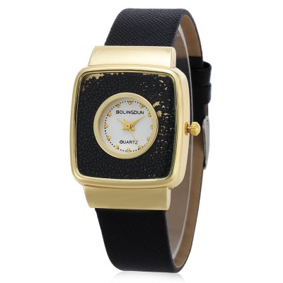 Quartz Watch with Square Dial
