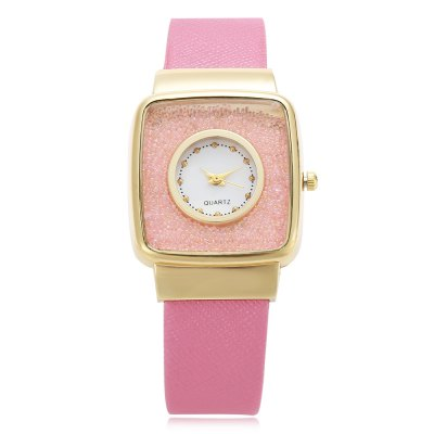 Quartz Watch with Square DialWomens Watches<br>Quartz Watch with Square Dial<br><br>Watches categories: Female table<br>Watch style: Casual<br>Watch color: lake blue, pink, black, white<br>Movement type: Quartz watch<br>Shape of the dial: Square<br>Display type: Analog<br>Case material: Alloy<br>Band material: PU Leather<br>Clasp type: Pin buckle<br>Dial size: 2.8 x 2.8 x 0.7cm / 1.1 x 1.1 x 0.28inches<br>Band size: 23 x 1.6cm / 9.06 x 0.63 inches<br>Wearable length: 17 - 21.5cm / 6.69 - 8.46 inches<br>Product weight: 0.032 kg<br>Package weight: 0.052 kg<br>Product size (L x W x H): 23.00 x 2.80 x 0.70 cm / 9.06 x 1.1 x 0.28 inches<br>Package size (L x W x H): 24.00 x 3.80 x 1.70 cm / 9.45 x 1.5 x 0.67 inches<br>Package Contents: 1 x Quartz Watch with Square Dial for Women