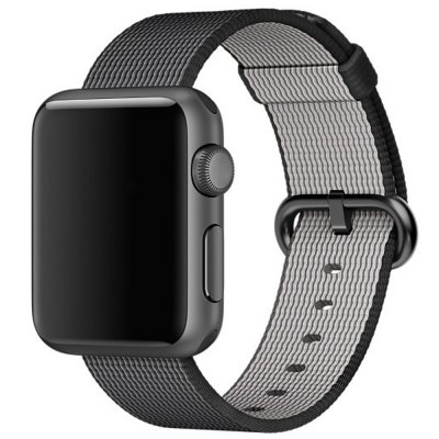 Nylon Watchband for Apple Watch 38mmApple Watch Bands<br>Nylon Watchband for Apple Watch 38mm<br><br>Color: Black,Blue<br>Function: for Apple Watch 38mm<br>Material: Nylon<br>Package Contents: 1 x Watchband<br>Package size: 21.70 x 6.50 x 1.70 cm / 8.54 x 2.56 x 0.67 inches<br>Package weight: 0.042 kg<br>Product size: 11.00 x 3.20 x 0.30 cm / 4.33 x 1.26 x 0.12 inches<br>Product weight: 0.011 kg