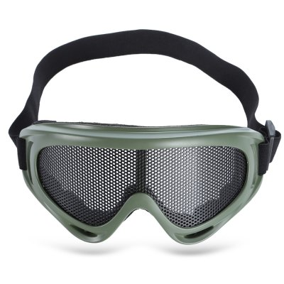 Shock-resistant Protective Glasses Goggle with Metal Net LensSunglasses &amp; Sports Glasses<br>Shock-resistant Protective Glasses Goggle with Metal Net Lens<br><br>Functions: Anti-shock, Dustproof<br>Lens height: 5.6cm<br>Lens width: 15cm<br>Package Contents: 1 x Protective Glasses<br>Package size (L x W x H): 19.00 x 8.00 x 7.50 cm / 7.48 x 3.15 x 2.95 inches<br>Package weight: 0.116 kg<br>Product size (L x W x H): 18.00 x 8.00 x 7.00 cm / 7.09 x 3.15 x 2.76 inches<br>Product weight: 0.085 kg