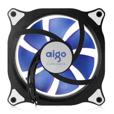 Aigo 12CM Computer Case Cooler with LED Light for PC