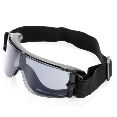 Three-color PC Lens Protective Glasses Goggle with Rubber Pad