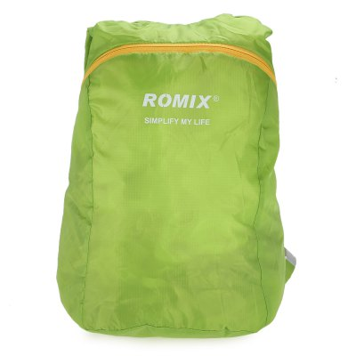 ROMIX RH30 Foldable BackpackBackpacks<br>ROMIX RH30 Foldable Backpack<br><br>Bag Capacity: 18L<br>Brand: ROMIX<br>Capacity: 11 - 20L<br>Features: Water Resistance, Ultra Light, Foldable<br>For: Traveling, Cycling, Casual<br>Material: Nylon<br>Package Contents: 1 x ROMIX RH30 Backpack<br>Package size (L x W x H): 12.00 x 12.00 x 5.00 cm / 4.72 x 4.72 x 1.97 inches<br>Package weight: 0.135 kg<br>Product size (L x W x H): 29.00 x 18.00 x 42.00 cm / 11.42 x 7.09 x 16.54 inches<br>Product weight: 0.075 kg<br>Strap Length: 33 - 76cm<br>Type: Backpack