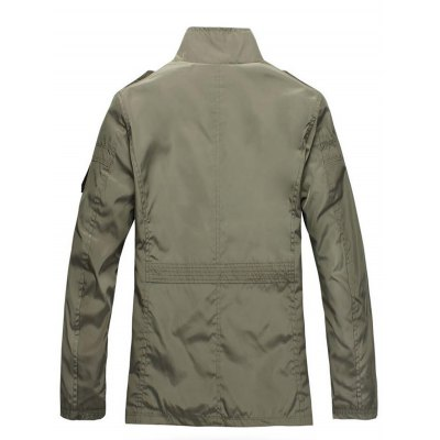 Patched Water-resistant Slim Fit Windbreaker JacketMens Jackets &amp; Coats<br>Patched Water-resistant Slim Fit Windbreaker Jacket<br><br>Closure Type: Zipper<br>Clothes Type: Jackets<br>Collar: Stand-Up Collar<br>Colors: Army green,Black<br>Embellishment: Others<br>Materials: Polyester<br>Package Content: 1 x Men Jacket<br>Package Dimension: 40.00 x 30.00 x 8.00 cm / 15.75 x 11.81 x 3.15 inches<br>Package weight: 0.5700 kg<br>Pattern Type: Patchwork<br>Seasons: Autumn,Winter<br>Shirt Length: Long<br>Size1: 2XL,3XL,4XL,5XL,L,M,XL<br>Sleeve Length: Long Sleeves<br>Style: Fashion<br>Thickness: Thin