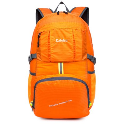 Kabden 35L Travel BackpackBackpacks<br>Kabden 35L Travel Backpack<br><br>Bag Capacity: 35L<br>Brand: Kabden<br>Capacity: 31 - 40L<br>Features: Water Resistance, Ultra Light, Laptop Bag, Foldable<br>For: Traveling, Sports, Casual, Camping<br>Gender: Unisex<br>Material: Nylon<br>Package Contents: 1 x Kabden Travel Backpack<br>Package size (L x W x H): 20.00 x 18.00 x 4.00 cm / 7.87 x 7.09 x 1.57 inches<br>Package weight: 0.3800 kg<br>Product size (L x W x H): 31.00 x 21.00 x 51.00 cm / 12.2 x 8.27 x 20.08 inches<br>Product weight: 0.3100 kg<br>Strap Length: 45 - 90cm<br>Style: Fashion<br>Type: Hiking