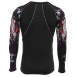 cheap Printed Long Sleeves Compress Tight T-shirt for Fitness Sports