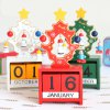 Buy Christmas Festival Calendar Table Decoration RED