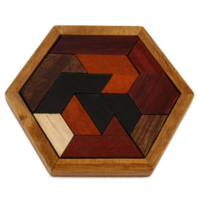 Classic Unlock Puzzle Toy Wooden 3D Jigsaw