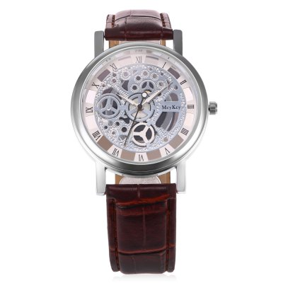 Quartz Hollow-out Watch for MenMens Watches<br>Quartz Hollow-out Watch for Men<br><br>Watches categories: Male table<br>Watch style: Hollow-out<br>Watch color: black, black+gold, coffee<br>Movement type: Quartz watch<br>Shape of the dial: Round<br>Display type: Analog<br>Case material: Alloy<br>Band material: Leather<br>Clasp type: Pin buckle<br>Dial size: 3.8 x 3.8 x 1cm / 1.5 x 1.5 x 0.39 inches<br>Band size: 25 x 1.9cm / 9.84 x 0.75 inches<br>Wearable length: 23 - 20.5 / 9.06 x 8.07 inches<br>Product weight: 0.0400 kg<br>Package weight: 0.0600 kg<br>Product size (L x W x H): 25.00 x 3.80 x 1.00 cm / 9.84 x 1.5 x 0.39 inches<br>Package size (L x W x H): 26.00 x 4.80 x 2.00 cm / 10.24 x 1.89 x 0.79 inches<br>Package Contents: 1 x Quartz Watch with Hollow-out Design for Men