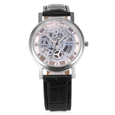 Quartz Hollow-out Watch for MenMens Watches<br>Quartz Hollow-out Watch for Men<br><br>Watches categories: Male table<br>Watch style: Hollow-out<br>Watch color: black, black+gold, coffee<br>Movement type: Quartz watch<br>Shape of the dial: Round<br>Display type: Analog<br>Case material: Alloy<br>Band material: Leather<br>Clasp type: Pin buckle<br>Dial size: 3.8 x 3.8 x 1cm / 1.5 x 1.5 x 0.39 inches<br>Band size: 25 x 1.9cm / 9.84 x 0.75 inches<br>Wearable length: 23 - 20.5 / 9.06 x 8.07 inches<br>Product weight: 0.040 kg<br>Package weight: 0.060 kg<br>Product size (L x W x H): 25.00 x 3.80 x 1.00 cm / 9.84 x 1.5 x 0.39 inches<br>Package size (L x W x H): 26.00 x 4.80 x 2.00 cm / 10.24 x 1.89 x 0.79 inches<br>Package Contents: 1 x Quartz Watch with Hollow-out Design for Men