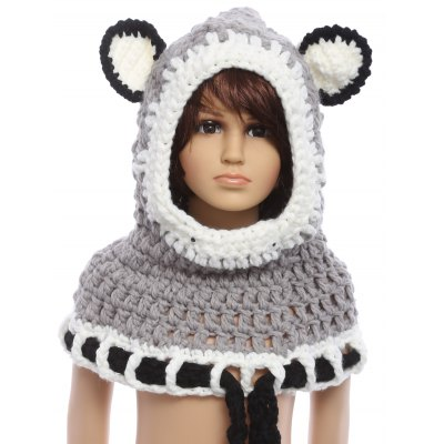 Kids Winter Knitted Hat Set