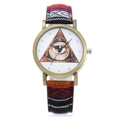 Fashion 839 Triangle + Big Eye Pattern Dial Lady Quartz WatchWomens Watches<br>Fashion 839 Triangle + Big Eye Pattern Dial Lady Quartz Watch<br><br>Watches categories: Female table<br>Watch style: Fashion<br>Movement type: Quartz watch<br>Shape of the dial: Round<br>Display type: Analog<br>Case material: Alloy<br>Band material: Leather<br>Clasp type: Pin buckle<br>Dial size: 3.6 x 3.6 x 1 cm / 1.42 x 1.42 x 0.39 inches<br>Band size: 24 x 1.8 cm / 9.45 x 0.71 inches<br>Wearable length: 18.2 - 21.8 cm / 7.17 - 8.58 inches<br>Product weight: 0.024 kg<br>Package weight: 0.060 kg<br>Product size (L x W x H): 24.00 x 3.60 x 1.00 cm / 9.45 x 1.42 x 0.39 inches<br>Package size (L x W x H): 25.00 x 4.60 x 2.00 cm / 9.84 x 1.81 x 0.79 inches<br>Package Contents: 1 x Fashion 839 Lady Quartz Watch