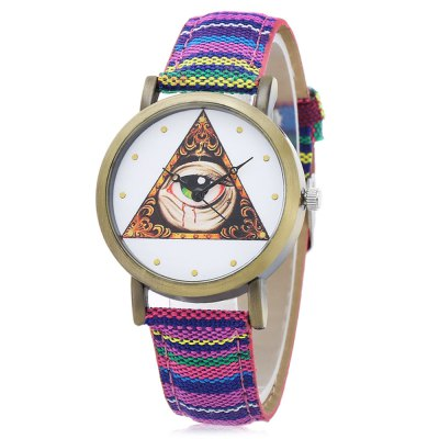 Fashion 839 Triangle + Big Eye Pattern Dial Lady Quartz Watch