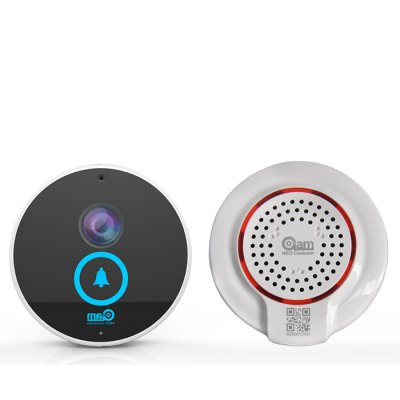NEO Coolcam iDoorbell Smart WiFi DoorbellDoorbell<br>NEO Coolcam iDoorbell Smart WiFi Doorbell<br><br>Brand: NEO Coolcam<br>Model: iDoorbell<br>Type: Practical,Safety<br>Certificate: CE,RoHs<br>For: Adults<br>Functions: Doorbell<br>Material: ABS<br>Occasion: Home<br>Product weight: 0.300 kg<br>Package weight: 0.820 kg<br>Package size (L x W x H): 20.00 x 20.00 x 10.00 cm / 7.87 x 7.87 x 3.94 inches<br>Package Contents: 1 x WiFi Doorbell, 1 x Indoor Bell, 2 x CR123A Battery, 1 x English Manual