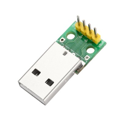 USB Male to 2.54mm DIP 4P Adapter Module for Breadboard