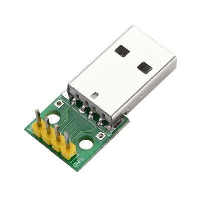 USB Male to 2.54mm DIP 4P Adapter Module for BreadboardOther Accessories<br>USB Male to 2.54mm DIP 4P Adapter Module for Breadboard<br><br>Color: Green<br>Package Contents: 1 x USB Male to 2.54mm DIP 4P Adapter Module<br>Package Size(L x W x H): 8.00 x 6.00 x 2.50 cm / 3.15 x 2.36 x 0.98 inches<br>Package weight: 0.025 kg<br>Product Size(L x W x H): 3.00 x 1.50 x 1.00 cm / 1.18 x 0.59 x 0.39 inches<br>Product weight: 0.003 kg