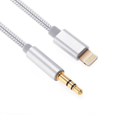 3.5mm to 8 Pin Car Audio CableiPhone Cables &amp; Adapters<br>3.5mm to 8 Pin Car Audio Cable<br><br>Cable Length (cm): 100cm<br>Color: Black,Champagne,Silver<br>Interface Type: 8 pin, 3.5mm Jack<br>Mainly Compatible with: iPhone 7, iPhone 7 Plus<br>Material ( Cable&amp;Adapter): Nylon<br>Package Contents: 1 x 100cm Audio Cable<br>Package size (L x W x H): 15.70 x 10.00 x 1.00 cm / 6.18 x 3.94 x 0.39 inches<br>Package weight: 0.046 kg<br>Product size (L x W x H): 100.00 x 0.90 x 0.50 cm / 39.37 x 0.35 x 0.2 inches<br>Product weight: 0.015 kg<br>Type: Cable