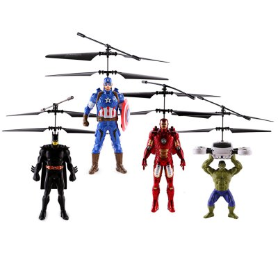 ZOYO Anime Flying Hero Shape Infrared Control HelicopterNovelty Toys<br>ZOYO Anime Flying Hero Shape Infrared Control Helicopter<br><br>Brand: ZOYO<br>Features: Creative Toy, Electronic<br>Materials: ABS, Electronic Components<br>Package Contents: 1 x Helicopter, 1 x USB Cable<br>Package size: 21.00 x 6.00 x 29.00 cm / 8.27 x 2.36 x 11.42 inches<br>Package weight: 0.250 kg<br>Product size: 20.00 x 20.00 x 25.00 cm / 7.87 x 7.87 x 9.84 inches<br>Product weight: 0.210 kg<br>Series: Lifestyle<br>Theme: Movie and TV