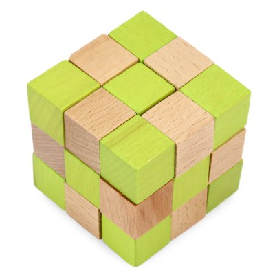 Classic Unlock Puzzle Wooden 3D Jigsaw Toy