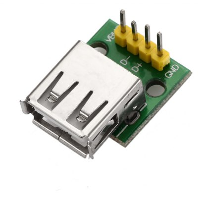 Type A Female USB Interface to 2.54mm DIP 4P Adapter Module