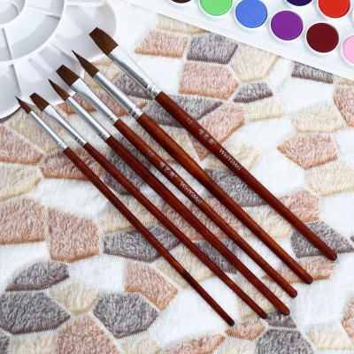 WeiYiMei 6 in 1 Painting Brush for PaintPainting Supplies<br>WeiYiMei 6 in 1 Painting Brush for Paint<br><br>Brand: WeiYiMei<br>Features: Painting Brush<br>Material: Wood<br>Package Contents: 6 x Painting Brush<br>Package size (L x W x H): 27.00 x 11.50 x 1.00 cm / 10.63 x 4.53 x 0.39 inches<br>Package weight: 0.0660 kg<br>Product weight: 0.0350 kg