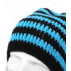 Creative Striped Beard Warm Winter Knitted Hat for sale