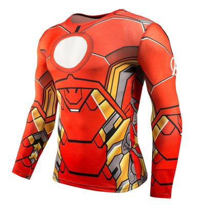 Classic Cartoon Figure 3D Print Tight Fit Long Sleeves T-shirt
