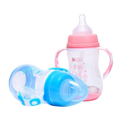 REIZBABY PP Cute Cartoon Baby Bottle with Temperature Sensor