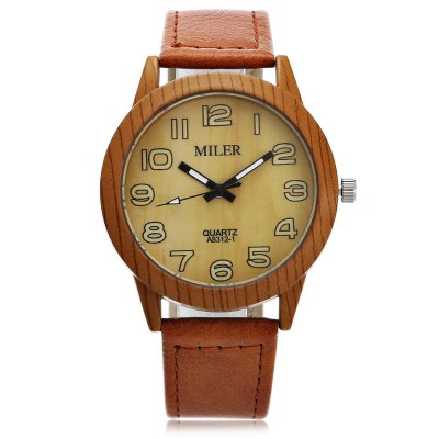 Original Miler 83121 Neutral Quartz Watch with Leather BandUnisex Watches<br>Original Miler 83121 Neutral Quartz Watch with Leather Band<br><br>Brand: Miler<br>People: Female table,Male table<br>Watch style: Casual,Classic<br>Shape of the dial: Round<br>Movement type: Quartz watch<br>Display type: Analog<br>Case material: Alloy<br>Band material: Leather<br>Clasp type: Pin buckle<br>Dial size: 4 x 4 x 0.9cm / 1.57 x 1.57 x 0.35 inches<br>Band size: 24.5 x 1.9cm / 9.65 x 0.75 inches<br>Wearable length: 18.5 - 22cm / 7.28 - 8.66 inches<br>Product weight: 0.038 kg<br>Package weight: 0.058 kg<br>Product size (L x W x H): 24.50 x 4.00 x 0.90 cm / 9.65 x 1.57 x 0.35 inches<br>Package size (L x W x H): 25.50 x 5.00 x 1.90 cm / 10.04 x 1.97 x 0.75 inches<br>Package Contents: 1 x Miler 83121 Neutral Quartz Watch