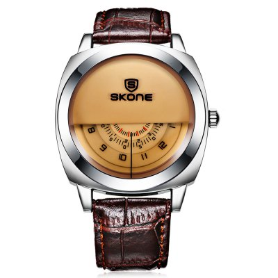 SKONE 1204 Fashion Half Dial Design Men Quartz WatchMens Watches<br>SKONE 1204 Fashion Half Dial Design Men Quartz Watch<br><br>Available Color: Black,Brown,White<br>Band material: Leather<br>Band size: 25.5 x 2 cm / 10.04 x 0.79 inches<br>Brand: Skone<br>Case material: Stainless Steel<br>Clasp type: Pin buckle<br>Dial size: 4.26 x 4.26 x 1.2 cm / 1.68 x 1.68 x 0.47 inches<br>Display type: Analog<br>Movement type: Quartz watch<br>Package Contents: 1 x SKONE 1204 Fashion Men Quartz Watch<br>Package size (L x W x H): 28.00 x 8.00 x 3.50 cm / 11.02 x 3.15 x 1.38 inches<br>Package weight: 0.1180 kg<br>Product size (L x W x H): 25.50 x 4.26 x 1.20 cm / 10.04 x 1.68 x 0.47 inches<br>Product weight: 0.0580 kg<br>Shape of the dial: Round<br>Watch style: Fashion<br>Watches categories: Male table<br>Water resistance : Life water resistant