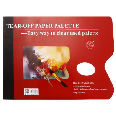 Paper Palette Art Materials with 8 Pages