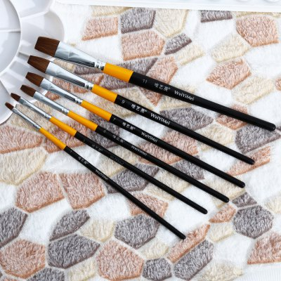 WeiYiMei 6 in 1 Painting Brush for DrawingPainting Supplies<br>WeiYiMei 6 in 1 Painting Brush for Drawing<br><br>Brand: WeiYiMei<br>Features: Painting Brush<br>Material: Wood<br>Package Contents: 6 x Painting Brush<br>Package size (L x W x H): 27.00 x 11.50 x 1.00 cm / 10.63 x 4.53 x 0.39 inches<br>Package weight: 0.0710 kg<br>Product weight: 0.0400 kg