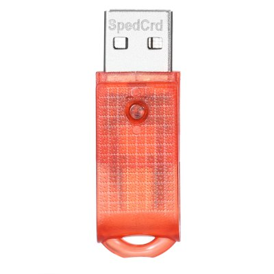 SpedCrd Spinning Micro USB to USB 2.0 Card Reader with TF Slot