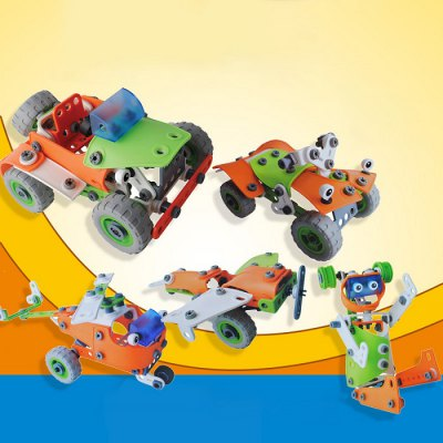 5 Model Car Educational 3D Puzzle Building Block Set