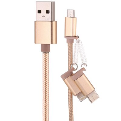 1m 3-in-1 USB Data Sync Charging Cable