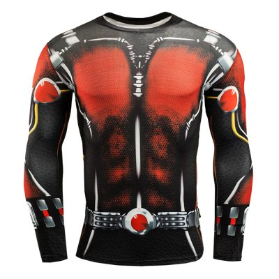 Tattoo Red T Shirt MenWeight Lifting Clothes<br>Tattoo Red T Shirt Men<br><br>Features: Breathable, High elasticity, Quick Dry<br>Gender: Men<br>Material: Spandex<br>Package Content: 1 x 3D Print T Shirt<br>Package size: 32.00 x 25.00 x 2.00 cm / 12.6 x 9.84 x 0.79 inches<br>Package weight: 0.250 kg<br>Product weight: 0.200 kg<br>Size: 2XL,3XL,L,M,XL<br>Types: Long Sleeves