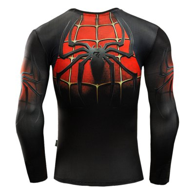 Tattoo Red T Shirt MenWeight Lifting Clothes<br>Tattoo Red T Shirt Men<br><br>Features: Breathable, High elasticity, Quick Dry<br>Gender: Men<br>Material: Spandex<br>Package Content: 1 x Men Tight T-shirt<br>Package size: 32.00 x 25.00 x 1.00 cm / 12.6 x 9.84 x 0.39 inches<br>Package weight: 0.250 kg<br>Size: 2XL,3XL,L,M,XL<br>Types: Long Sleeves