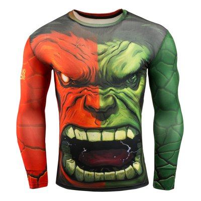 Classic Cartoon Figure 3D Print Tight Fit Long Sleeves T-shirtWeight Lifting Clothes<br>Classic Cartoon Figure 3D Print Tight Fit Long Sleeves T-shirt<br><br>Features: Breathable, High elasticity, Quick Dry<br>Gender: Men<br>Material: Spandex<br>Package Content: 1 x Men Tight T Shirt<br>Package size: 32.00 x 25.00 x 2.00 cm / 12.6 x 9.84 x 0.79 inches<br>Package weight: 0.250 kg<br>Product weight: 0.200 kg<br>Size: 2XL,3XL,L,M,XL<br>Types: Long Sleeves