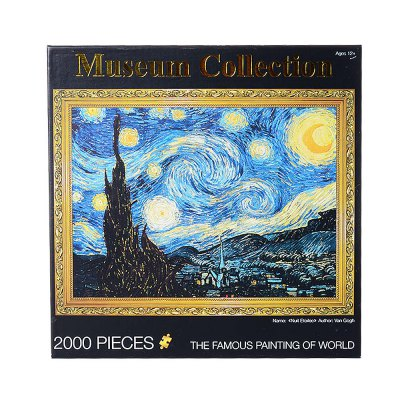 3d jigsaw paper oil painting assembly diy toy...